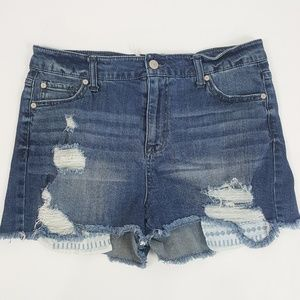 Altar'd State Distressed Stretch Denim Shorts 11